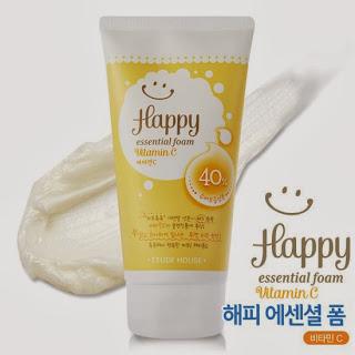 happy foam collagen etude, review foam etude, etude facial foam, jual etude murah, jual etude semarang, etude house facial foam, happy foam, chibi's etude house