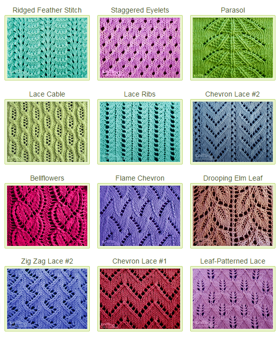 List of beautiful lace stitch patterns