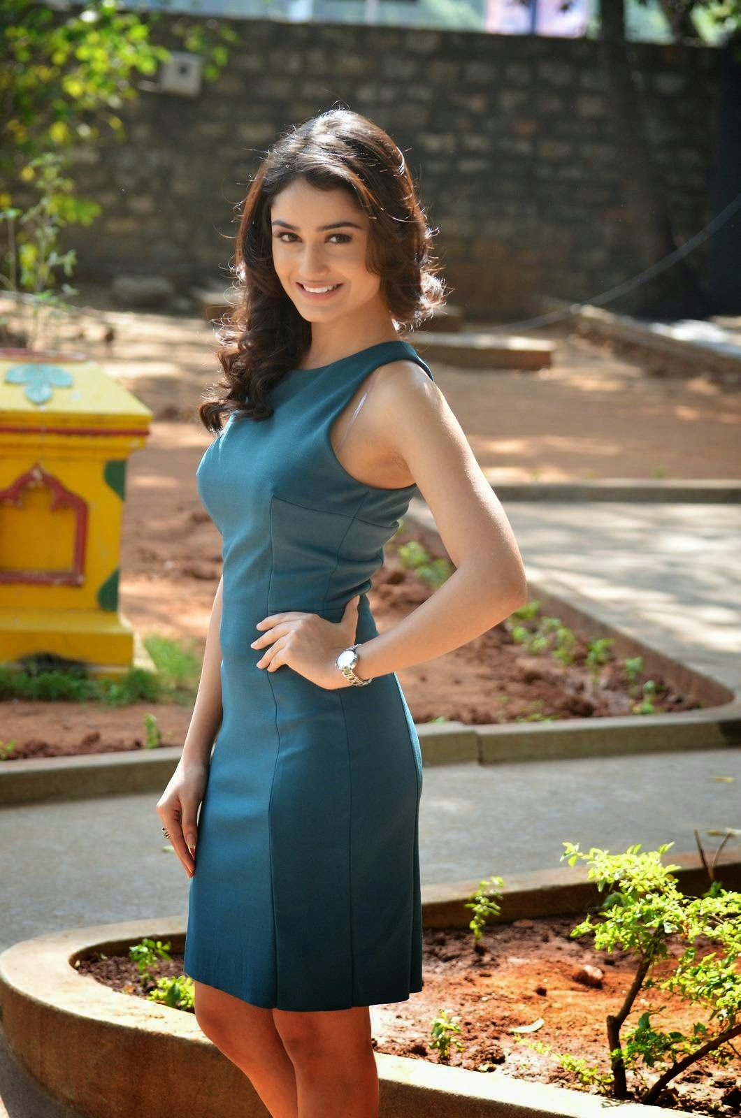Indian Garam Masala: Tridha Choudhury hot green mini dress