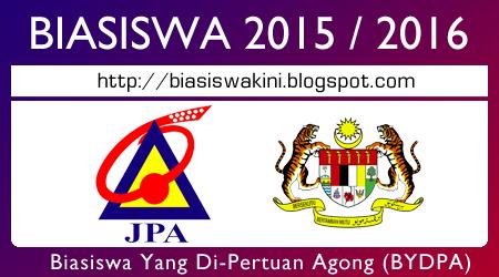 Biasiswa Yang Di-Pertuan Agong (BYDPA) 2015 / 2016
