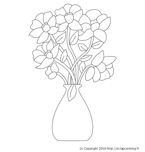 Comment dessiner un vase avec des fleurs - Comment dessiner une fleur facilement ...