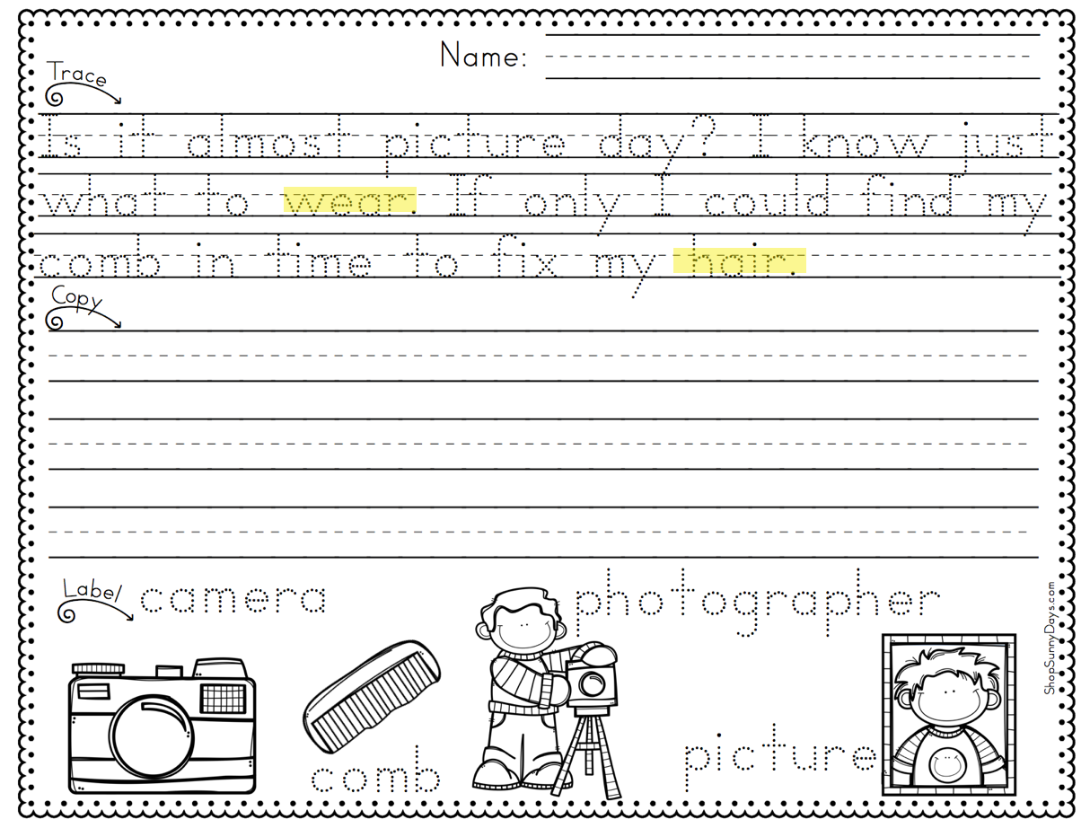worksheet Penmanship Practice working handwriting into your literacy block sunny days in i specifically made these practice pages rhyme because found that my kids really seemed to be having some difficulty with the concep