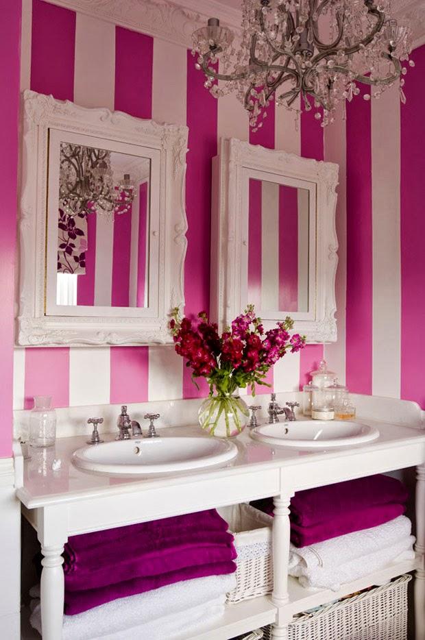Diseño de baños femeninos - Colores en Casa