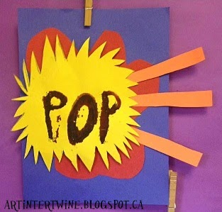 Roy Lichtenstein Pop Art actvity for kids