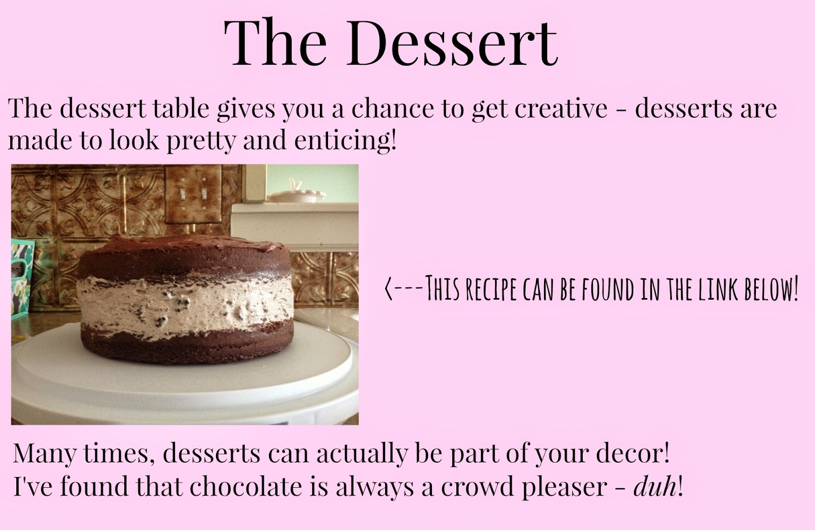 6 Tips to Throwing a Successful Party - Dessert