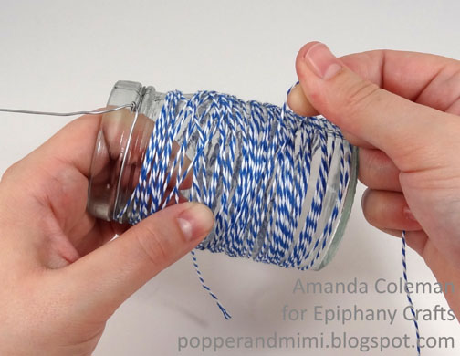 Twine Wrapped Jar Lanterns Tutorial | popperandmimi.com