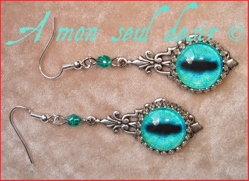 Boucles d'Oreilles Yeux Dragon Bijou Daenerys Targaryen Bijoux Khaleesi Jewelry Dragons Eyes Earrings