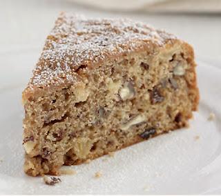 Apple, Raisin, and Pecan Cake