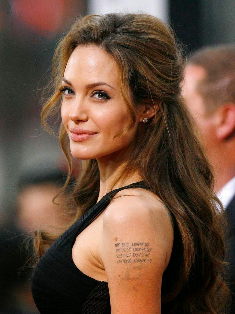 angelina jolie s tattoos