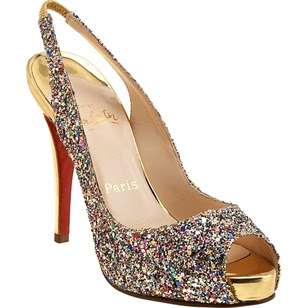 multicolour glitter stilettos