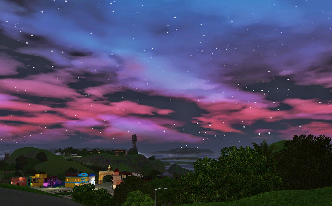My Sims 3 Blog: Spooky Sky and Pumpkin Moon Reissue ...