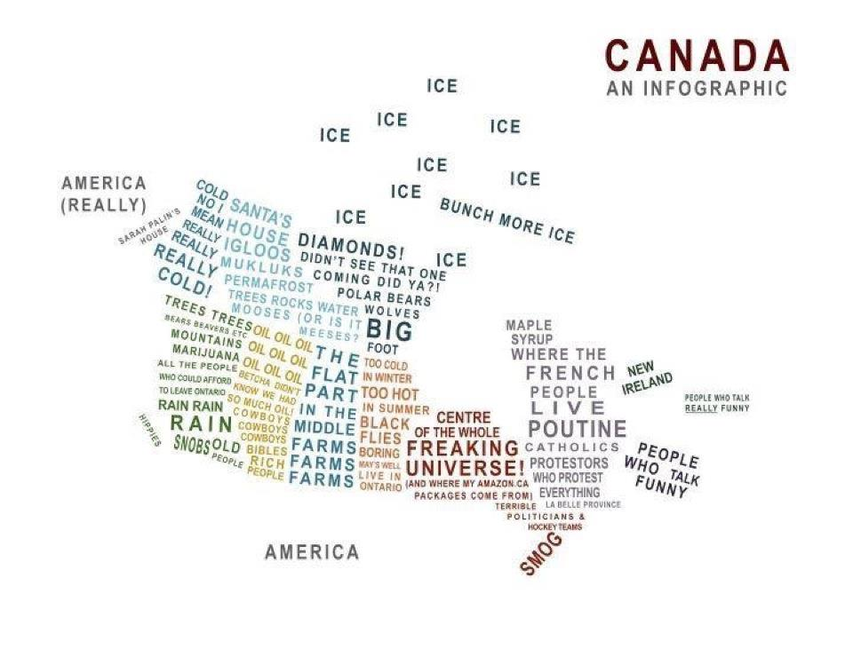 Geographic Travels Canadian Stereotype Map – Map It Canada