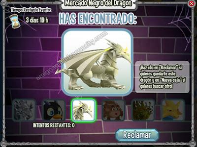 imagen del dragon origami en una caja del mercado negro del dragon