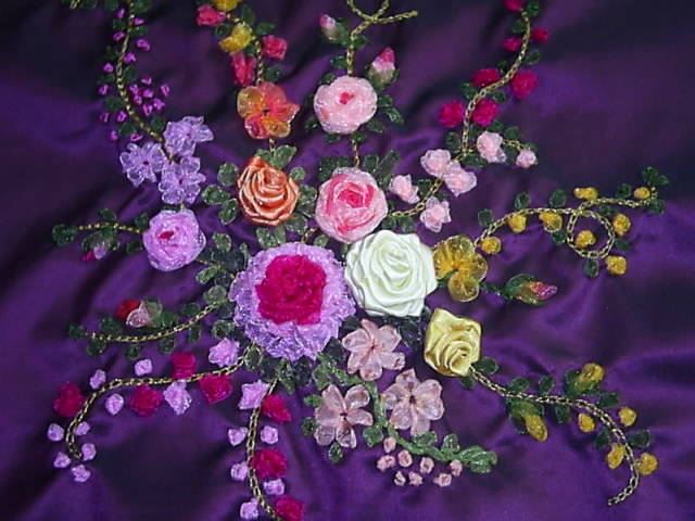 how to learn ribbon embroidery