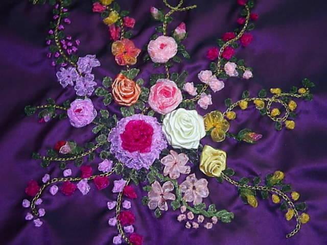 Knitting Ribbon Stitch : Ribbon embroidery case study-Knitting Gallery