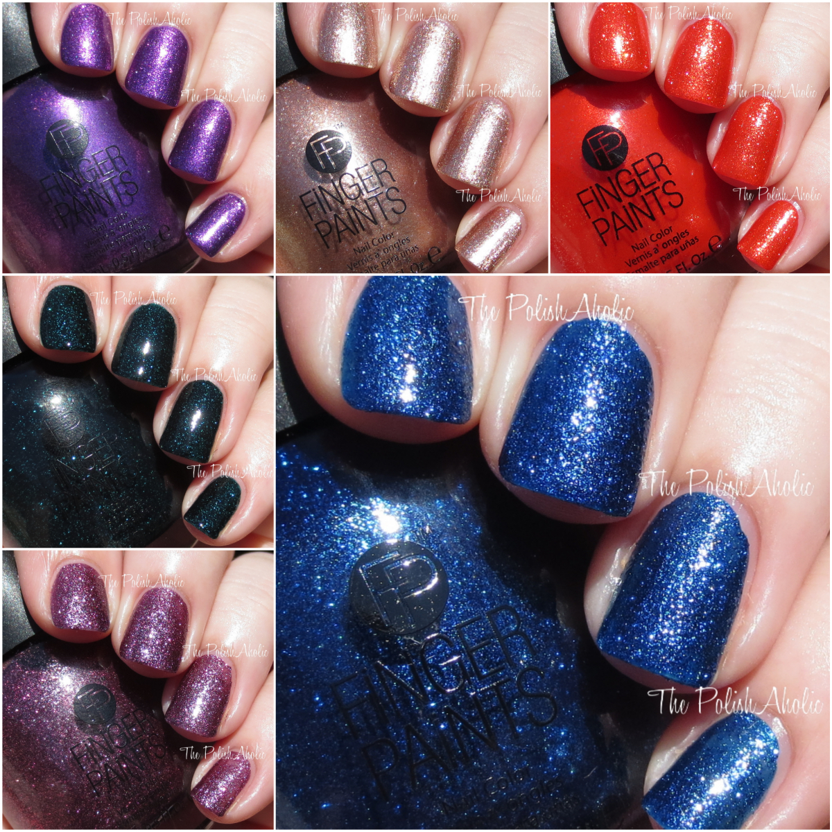 The PolishAholic: Finger Paints Once In A Wild Collection Swatches ...