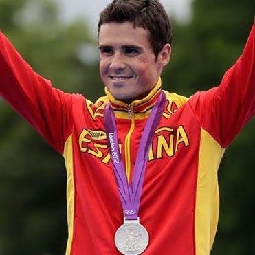 medalla de plata Javier Gomez Noya en Triatlon masculino España Juegos Olímpicos de Londres 2012