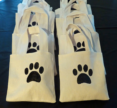 puppy, goody bags