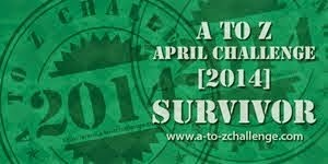 A to Z April Blog Challenge 2014 Survivor