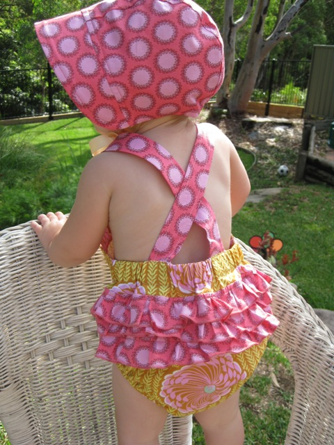 Ruffled Sunsuit sewing pattern
