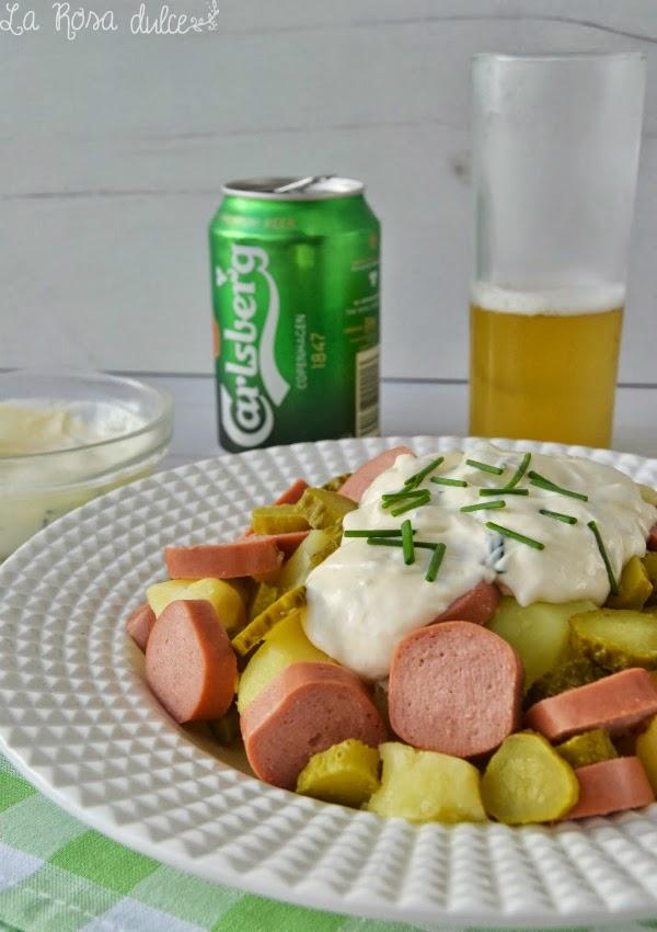 Kartofelsalat o ensalada alemana de patatas - Ensalada alemana de patatas ...