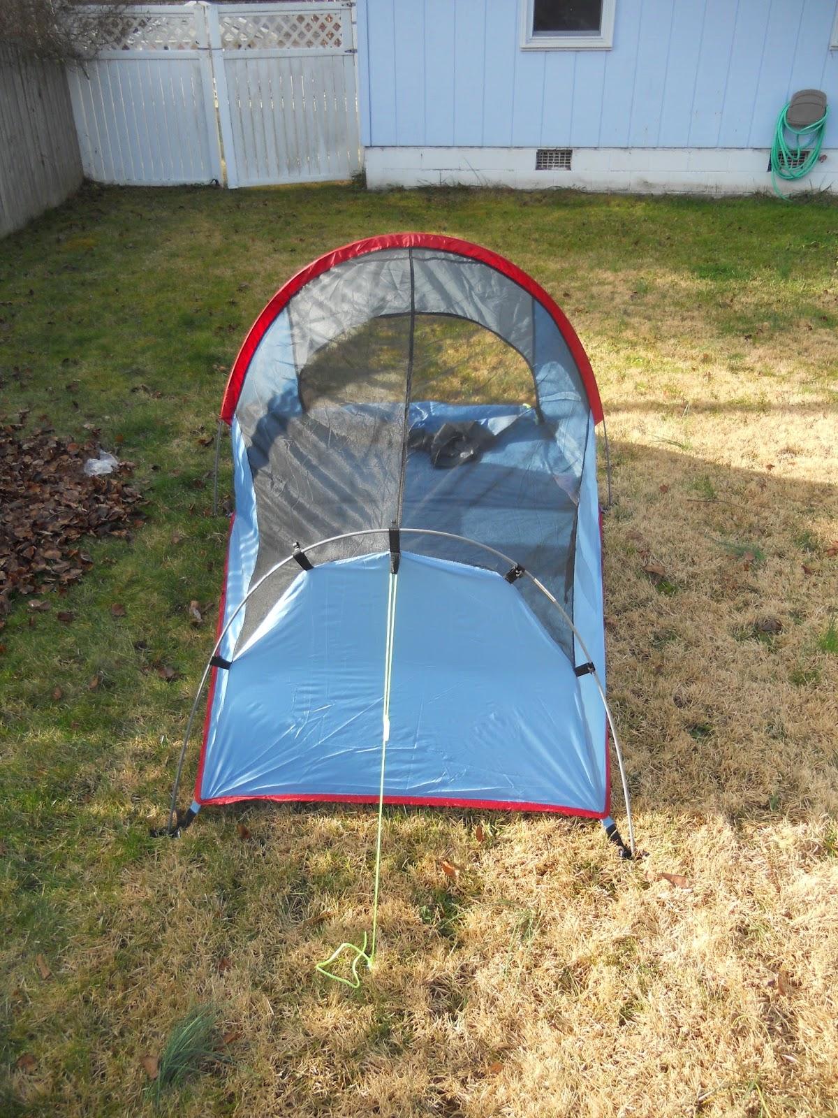 Texsport Saguaro Bivy Shelter Tent Assembled from Rear & Texsport Saguaro Bivy Shelter Tent: Texsport Saguaro Bivy Shelter ...