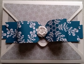 Envelope Punch board box made for angel stampin up