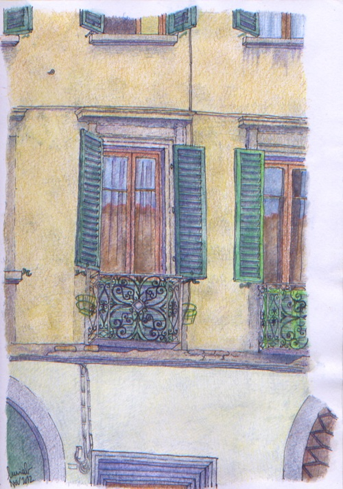Urban sketchers italy finestre di firenze - Finestre firenze ...
