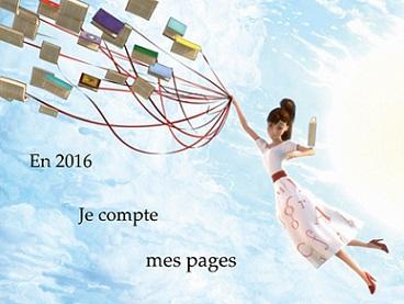 En 2016, je compte mes pages avec Kyradieuse