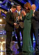 . Achievement Award during the BBC Sports Personality of the Year Awards . (aaaa)