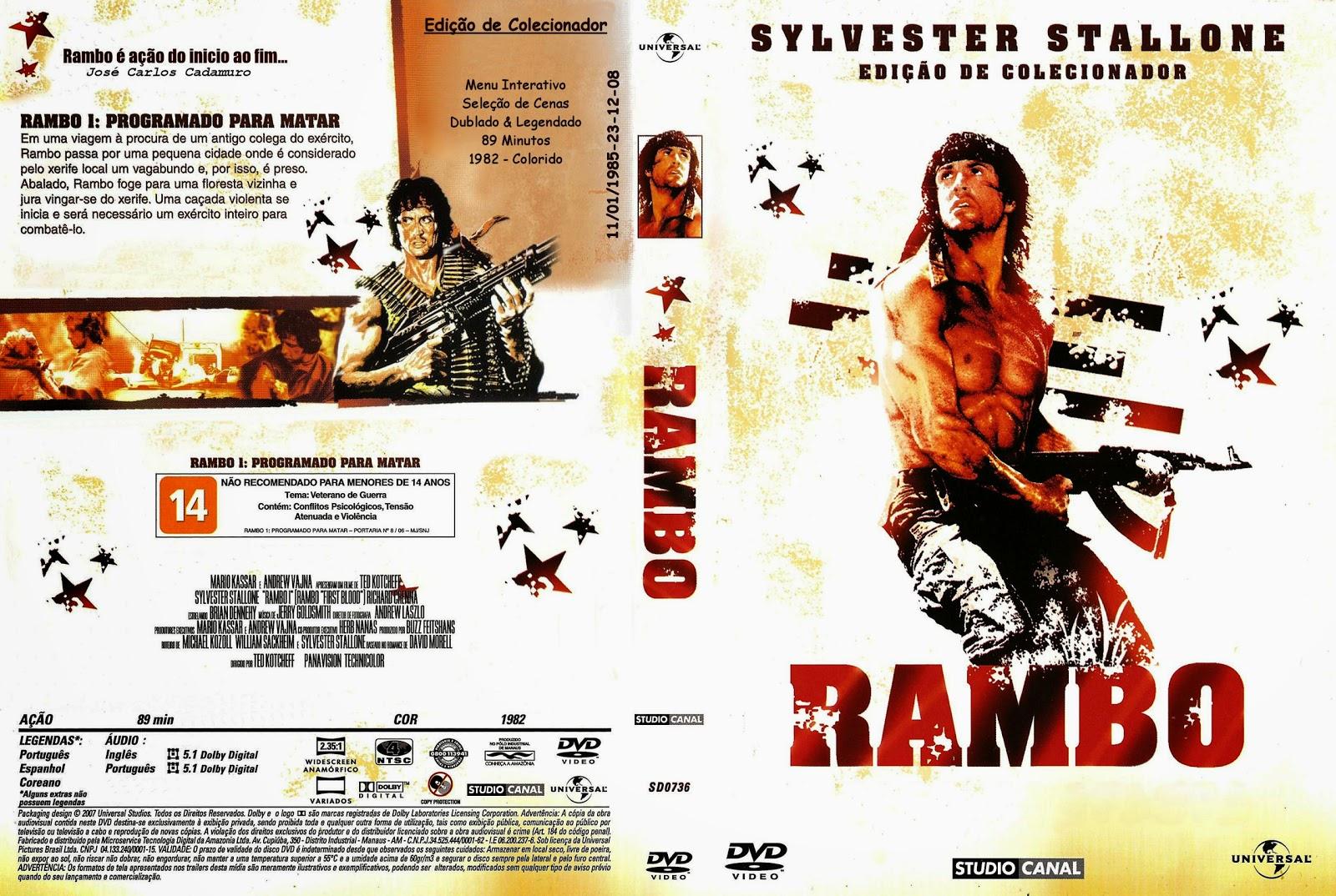 Capa DVD Rambo Edição De Colecionador