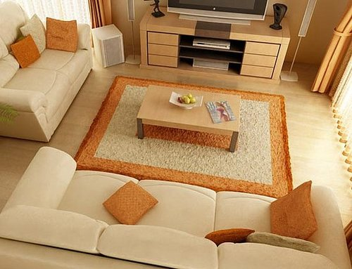Natural color decoration in the Living Room