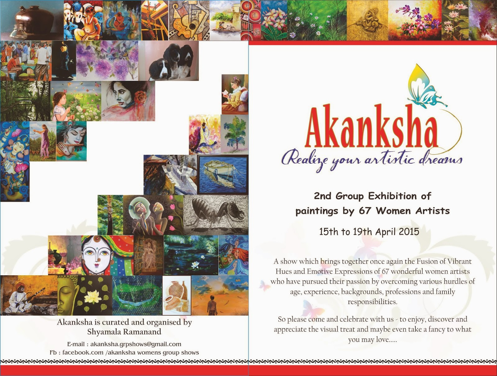 Ushas fine art creations invitation to my upcoming group art show if you happen to be in bangalore make sure to visit our group show akanksha stopboris Images