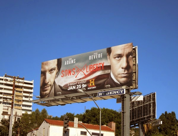 Sons of Liberty History mini-series billboard