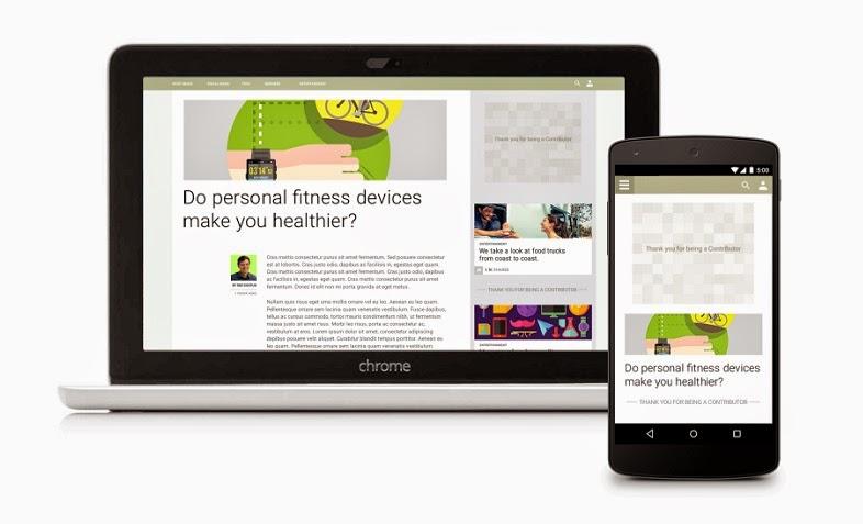 """جوجل تطلق خدمة """" Contributor """"  البديلة للإعلانات على مواقع الإنترنيت"""