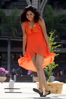 Sunaina, In, Orange, Dress