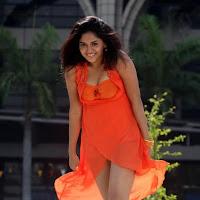 Sunaina in orange dress