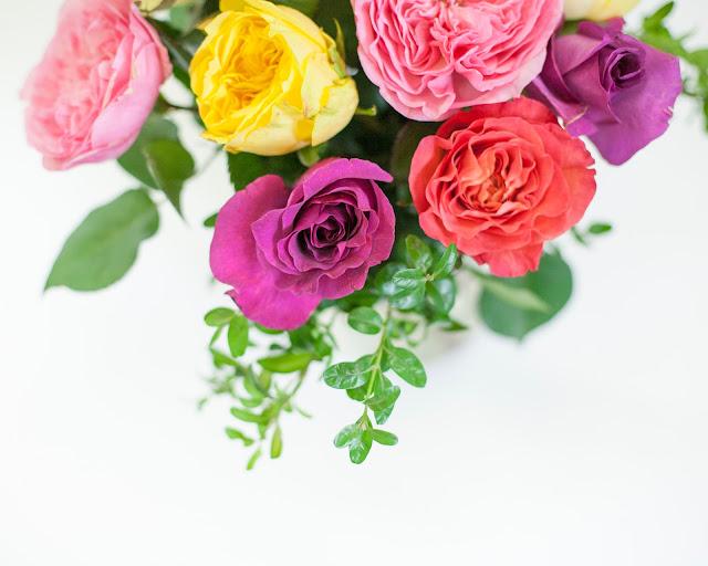 mixed garden roses