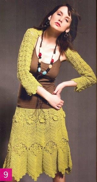 Mangas y Falda a Crochet