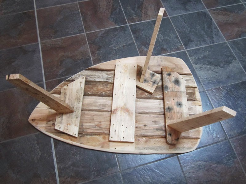 Table basse palette esprit scandinave au 303 home deco - Table cuisine palette ...