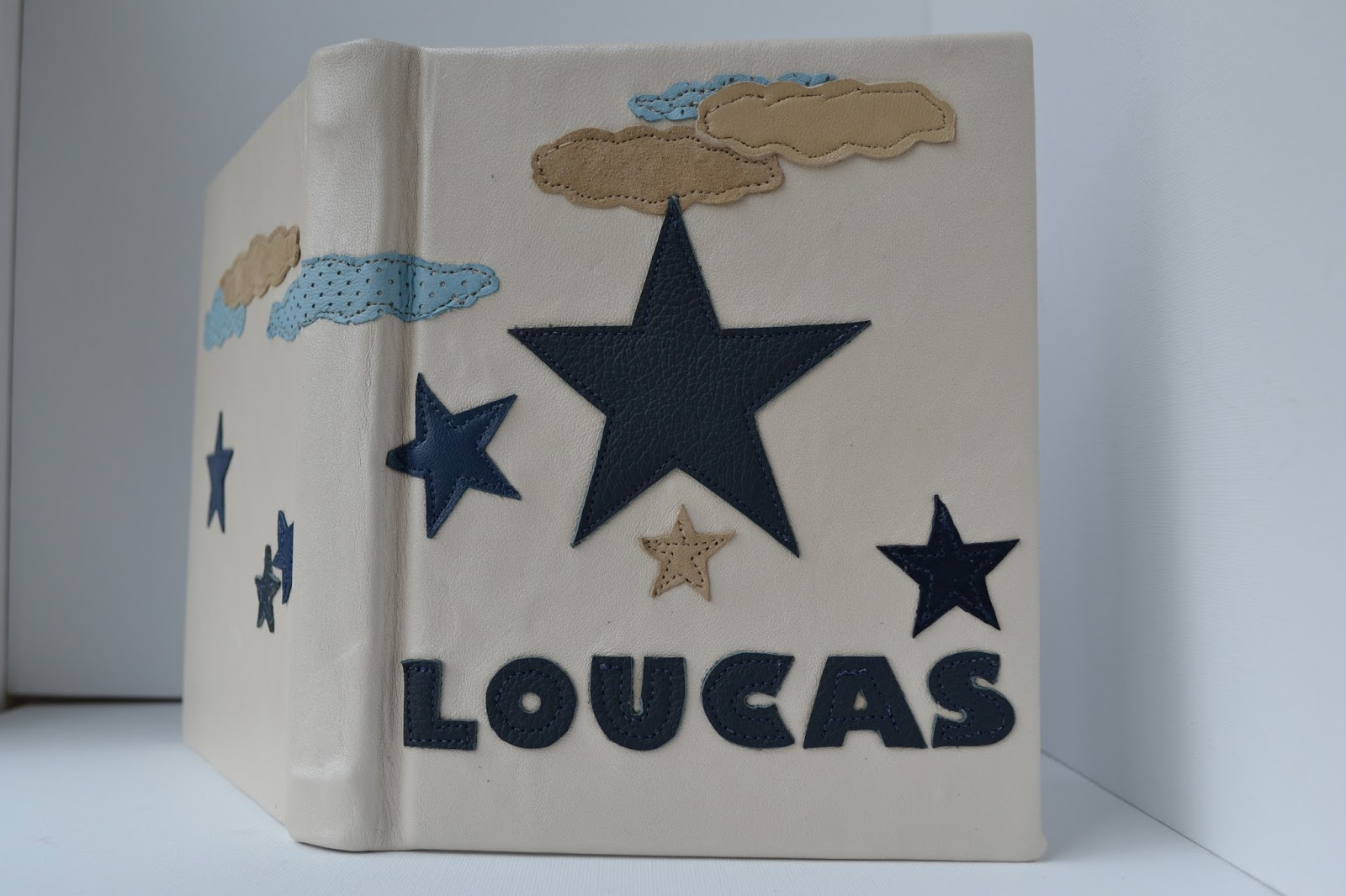 Meloleather bespoke Christening Bible cover made by Melo 2013