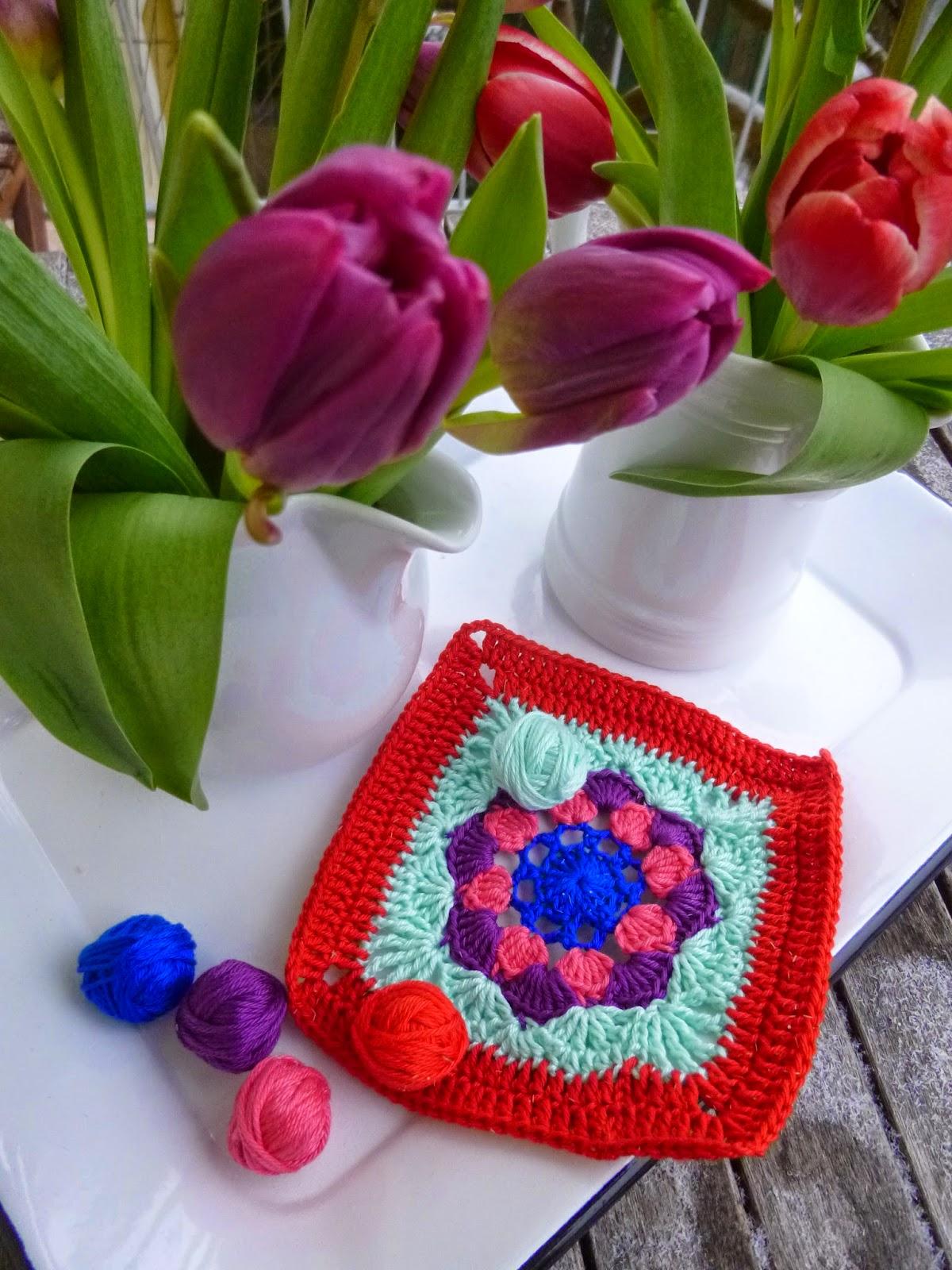 Dorable Häkeln Tulpe Blumenmuster Frieze - Decke Stricken Muster ...