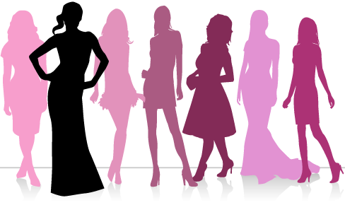 Fashion Alphabet With Models