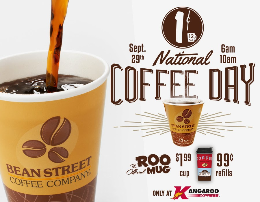 National Coffee Day Deals - Kangaroo Express - Monday, September 29