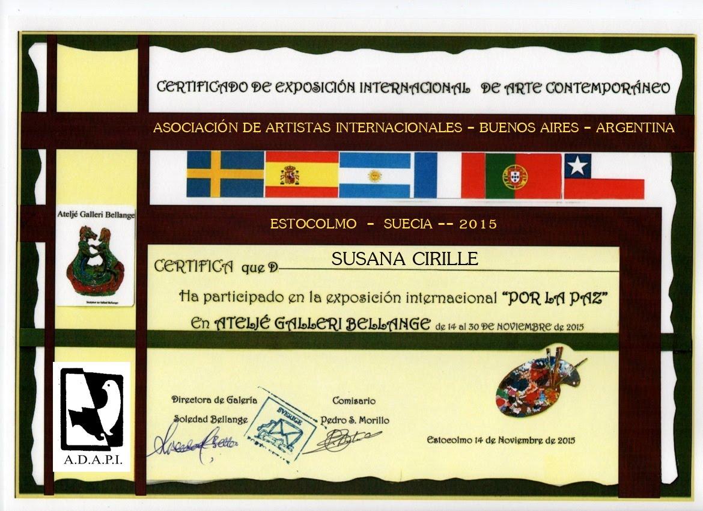 """EXPOSICIÓN INTERNACIONAL POR LA PAZ - OBRA """"EMBELESADA"""" - 2015"""