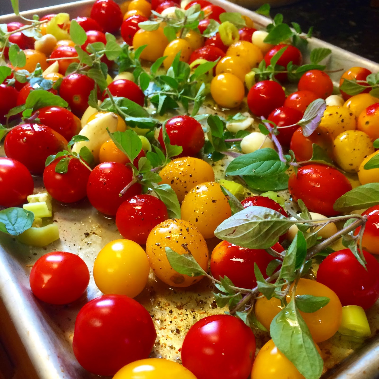 bonbons & biscotti: Slow Roasted Tomatoes and Herbs for ...