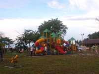 Playground before reaching the Kuala Belait beach