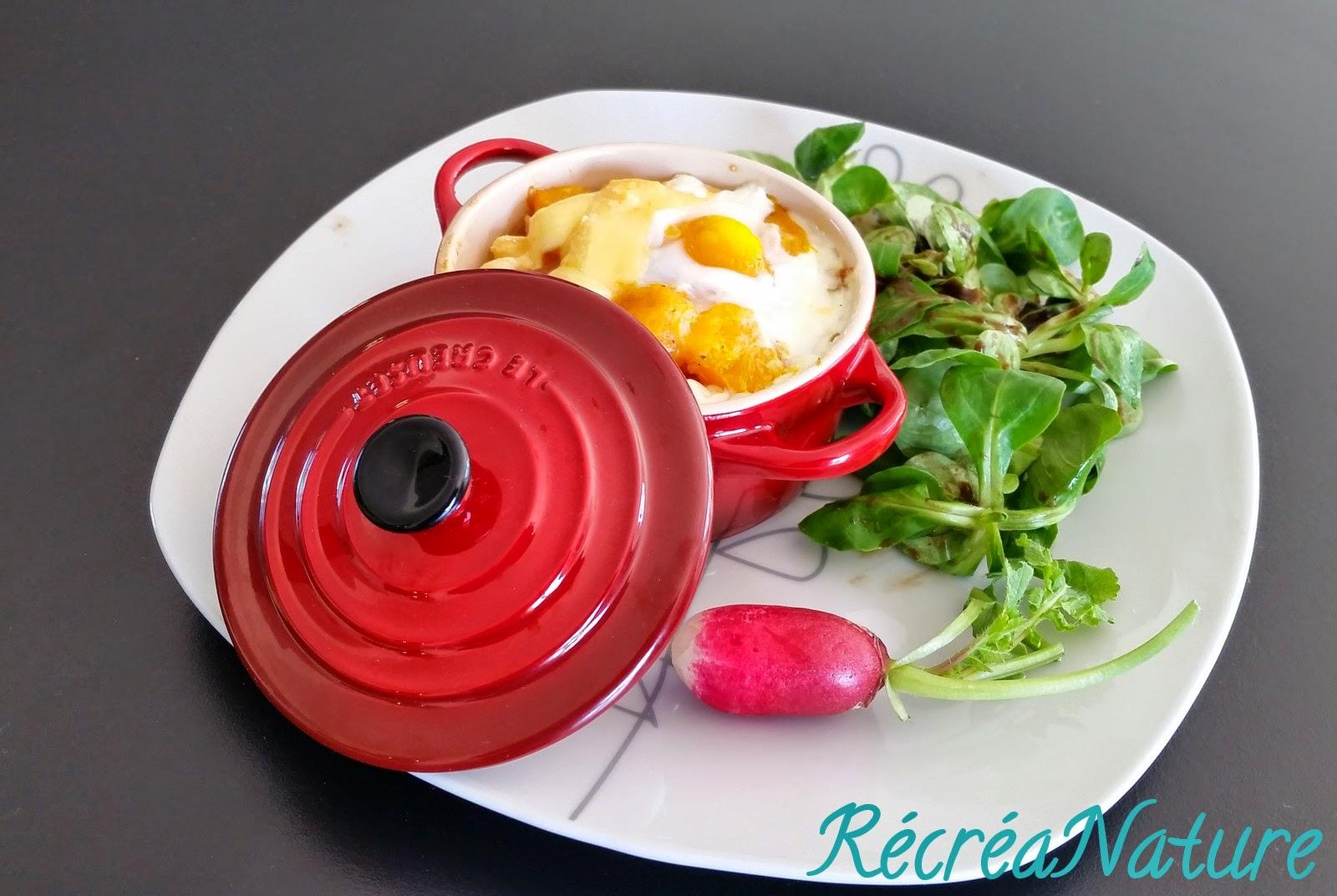Recette facile ufs en cocotte jambon blanc et butternut for Astuce cuisine facile