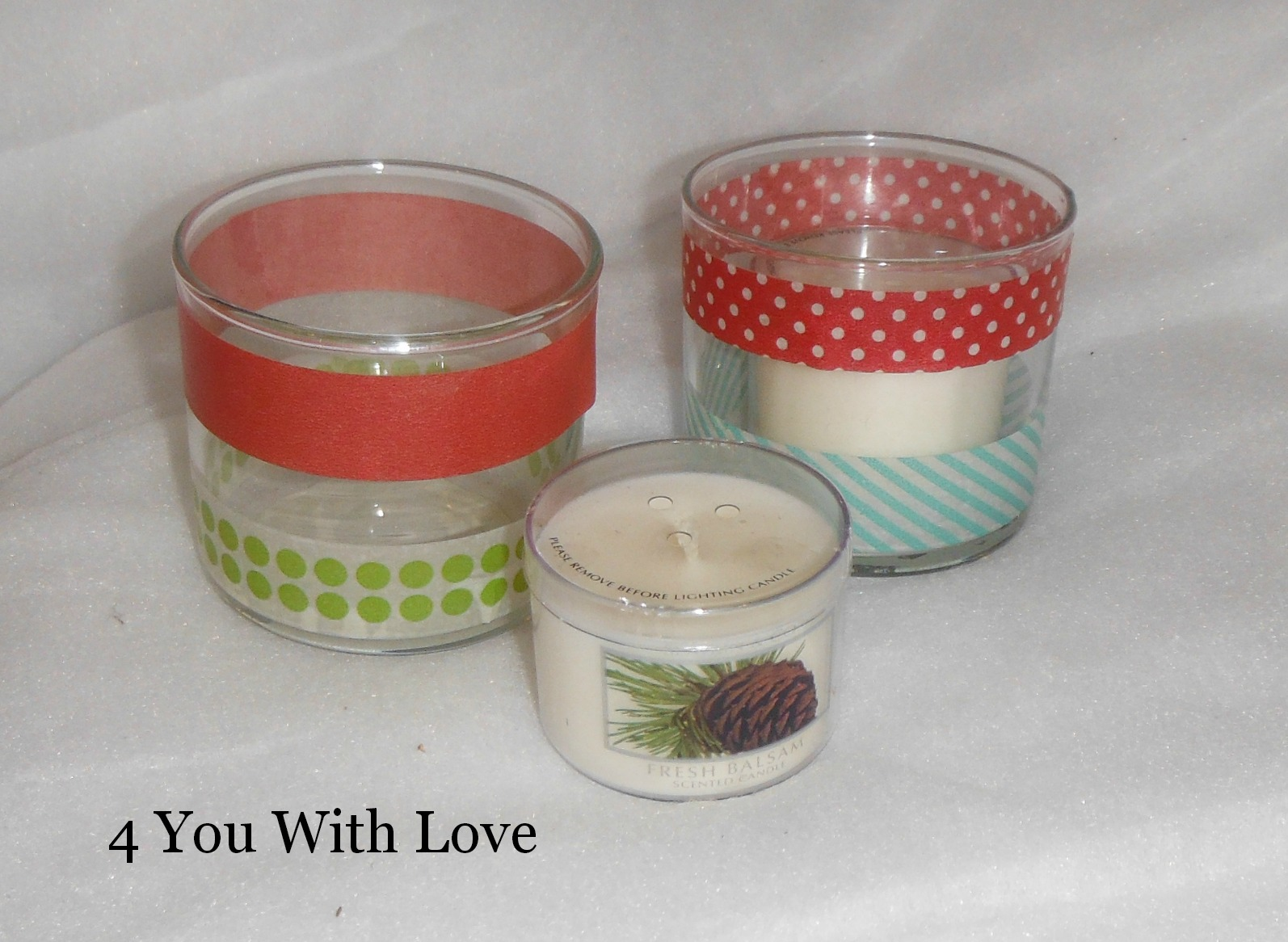 Homemade holiday inspiration day 4 washi tape candle for Homemade candle holders