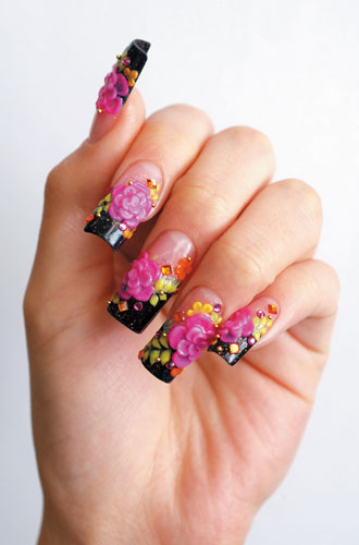 The Exciting Simple fake nails design Photo